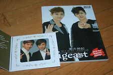 tvxq dbsk tohoshinki bigeast 2013  winter magazine  cd card photobook photo book