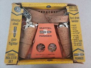 Mattel Dura Hyde Shootin Shell Gun Fighter Double Holster Set IN ORIGINAL BOX