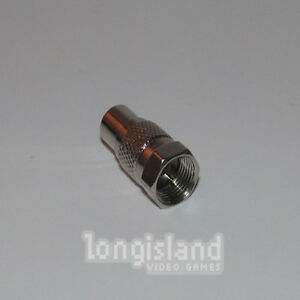 Atari RF Coaxial Female Adapter RCA to RG6 Video - Colecovision Intellivision