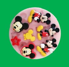 MICKEY MOUSE SET SILICONE MOULD FOR CAKE TOPPERS CHOCOLATE, CLAY ETC