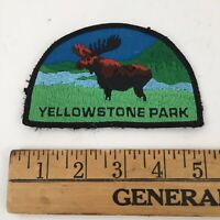 """Vintage 1980s Yellowstone National Park Embroidered Patch - Moose  Wyoming 4.75"""""""