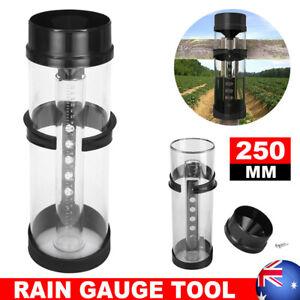 """UV stabilised Water Rain Gauge 10"""" Capacity Rainwater Rainfall Guage Home Garden"""