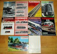 10x Fleischmann Katalog Modellbahn Werbung Prospekte 80er alt Profis Gleisanlage