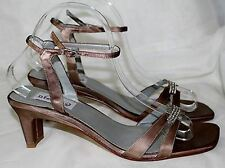 "DYEABLES ""Glory"" Formal Wedding Prom Shoes Satin Golden-Brown Size 8.5M NEW!"