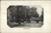 Reading MA Common - Trolleys c1910 Postcard