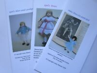 Knitting Patterns for 1//12th scale little girl SET 2