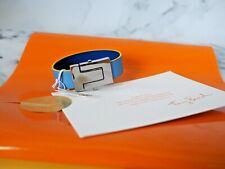 Tory Burch Multi Enamel Hinged Bracelet Blue Pink w/ Pouch $198 Brand New Tags