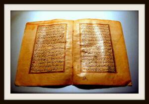 *** GOLDEN PERSIAN MANUSCRIPT, MEDALLION, MANY GOLD, ORIGINAL, around 1350 !!!