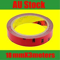 3M Double Face Sided adhesive Tape 18mm X 3meters for wheel flares claddings OZ