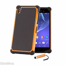 32nd Dual-Layer Shockproof Case Cover for Sony Xperia Models + Screen Protector