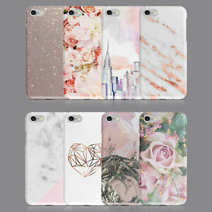 PRINTED GLITTER MARBLE FLORAL PHONE CASE FOR IPHONE 7 8 XS XR SAMSUNG S8 S9 PLUS