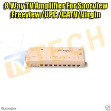 8 Way TV Distribution Amplifier Saorview Freeview Digital & Analogue