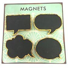 Bubble Talk 3D Blackboard Metal Magnets Fridge Chalk Message Board Memo x 4 New