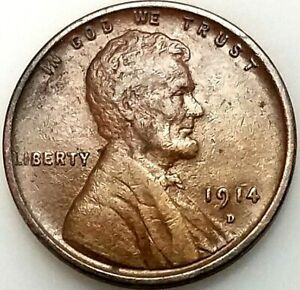 1914 D Lincoln Cent! A mintage of just 1,193,000! A key date coin! NO RESERVE!