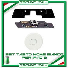Kit Set Tasto Home button completo per iPad 3 BIANCO