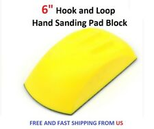 "6"" Hook and Loop Hand Sanding Pad Block"