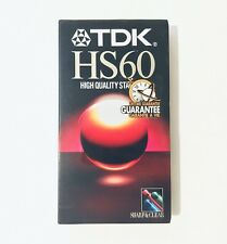 TDK HS60 VHS Tapes High Quality Standard Blank Video Cassette Tapes 2 Sealed