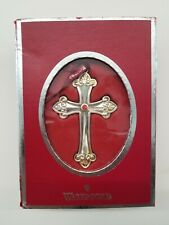 WATERFORD SILVER PLATED CROSS ORNAMENT4 inches