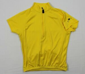 BELLWETHER S WOMEN'S CYCLING JERSEY S/S ½ ZIP IN YELLOW MADE IN U.S.A.