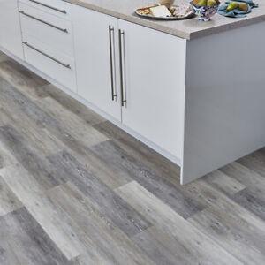 Peel and Stick Self Adhesive Luxury Vinyl Flooring Planks 15 Grey Driftwood LVT