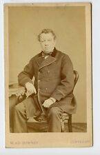Vintage CDV John Baldwin Buckstone English actor, playwright and comedian