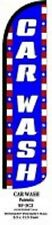 Car Wash Windless Standard Size Polyester Swooper Flag Sign Banner
