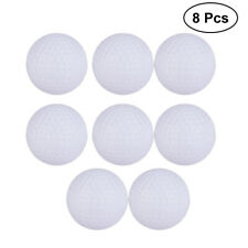 8pcs Indoor Outdoor Sports Training Practice Golf Elastic Plastic Balls White