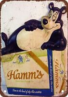 Hamm's Beer Bear Bar Pub Man Cave Vintage Rustic Metal Sign 12X18