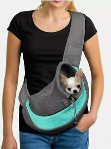 YUDODO Pet Dog Sling Carrier Breathable Mesh Travel Safe Sling Bag Size Large