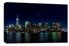 Le Reve York Skyline Wall Art Black Grey White City Canvas Print 30 X 20 Inch
