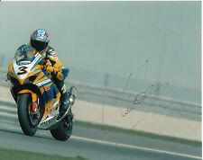 MAX BIAGGI mano firmato ALSTARE SUZUKI RACING foto 10 x 8 2007.