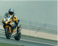 Max Biaggi Hand Signed Alstare Suzuki Racing 10x8 Photo 2007.