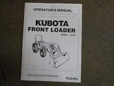 Kubota LA765 LA 765 loader owners & maintenance manual