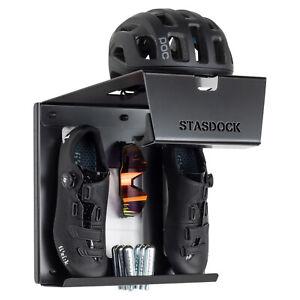Stasdock BICYCLE WALL MOUNT Helmet Shoe & Bicycle Storage System : HAPPY BLACK