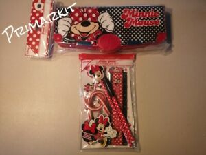 DISNEY MINNIE MOUSE MULTI-FUNCTION PENCIL CASE (LIKE SMIGGLE) OR STATIONERY SET