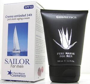 Pere Marve Sailor For Uomo Aloe Vera 24 H Anti Invecchiamento Crema 100 ML SPF