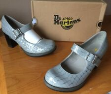 Dr Martens Marlena silver white patent leather shoes UK 7 EU 41