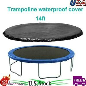 14ft Trampoline Protection Cover Rain Weather Dust Protect Round Sheet Cover PVC