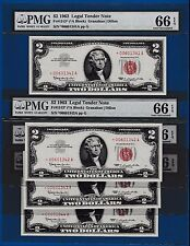 Fr.1513  $2  1963  STAR  LEGAL TENDER RED SEAL SN * 00601341 PMG 66 BUY ONE OF 5
