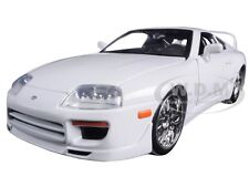 "BRIAN'S TOYOTA SUPRA WHITE ""FAST & FURIOUS "" MOVIE 1/24 BY JADA 97375"