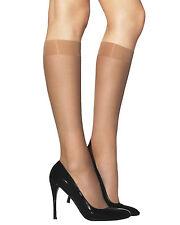 2 Pairs LAURA Semi-Opaque Knee High Pop Socks 40 Denier Elastane Glossy Finish