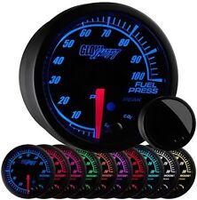 52mm GlowShift Elite 10 Color 100 PSI Fuel Pressure Gauge w Sensor - GS-ET11