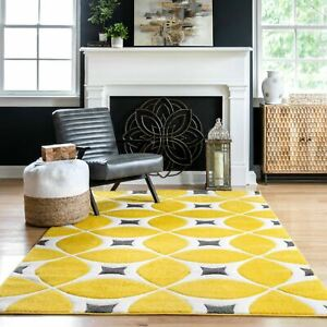 nuLOOM Contemporary Geometric Hand Tufted Gabriela Sunflower Yellow Area Rug