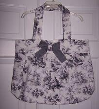 Handbag/Tote Large Toile Print Fabric Handmade Lining Inside Pocket New