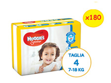 Huggies Unistar 180 Diapers Size 4 Maxi (7-39.7lbs) 10 Packs of 18 Pz
