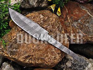 """8.5"""" long handmade damascus steel blank blade hunting knife Full Tang Knife.YR17"""