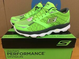 NEW Rare 2014 Skechers Go Run Ultra NITE OWL Mens Running Shoes 9.5 Green E4