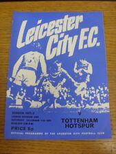 11/12/1971 Leicester City V Tottenham Hotspur (piegati, piegato, le modifiche del Team).