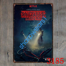 Metal Tin Sign stranger things original Decor Pub Bar Home Vintage Retro