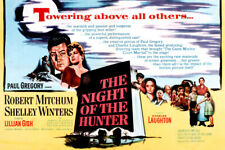 The Night Of The Hunter Robert Mitchum Charles Laughton Film Noir Artwork 18x24